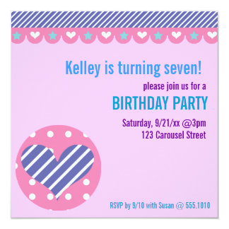 Sweetheart Carousel Party Invitation