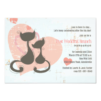 Sweetheart Cats Invitation