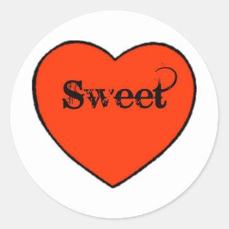 sweetheart cute round sticker