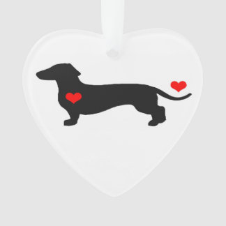 Sweetheart Dachshund Heart Ornament