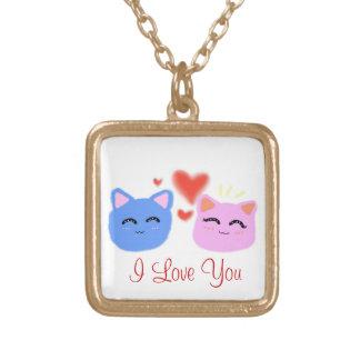 Sweetheart Kitties' Valentine Necklace
