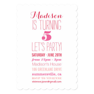 Sweetheart Love Pink Girl Birthday Party Invite
