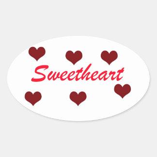 Sweetheart Oval Sticker