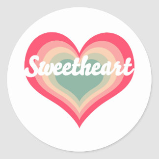 Sweetheart Pet Name Round Sticker