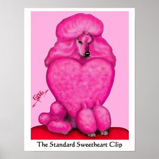 Sweetheart Poodle Canvas Print