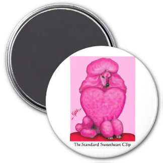 Sweetheart Poodle Round Magnet
