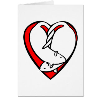 Sweetheart Rats Valentine Greeting Card