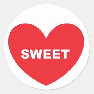 SweetHeart Round Sticker
