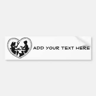 Sweetheart Silhouette Valentine Heart Bumper Stickers