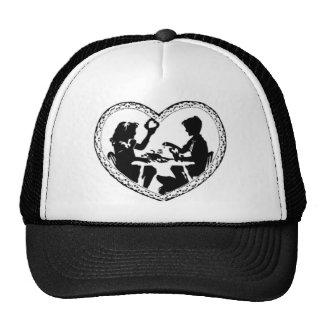 Sweetheart Silhouette Valentine Heart Trucker Hat