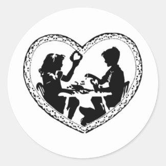 Sweetheart Silhouette Valentine Heart Sticker