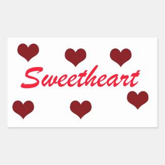 Sweetheart Rectangular Stickers