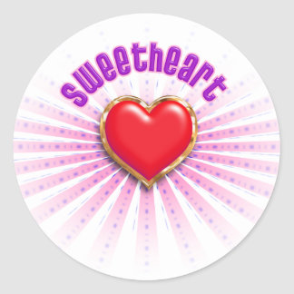 Sweetheart Round Stickers