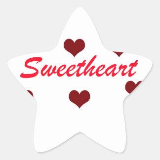 Sweetheart Star Sticker