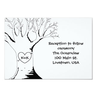 """Sweetheart Tree"" Reception Cards 9 Cm X 13 Cm Invitation Card"