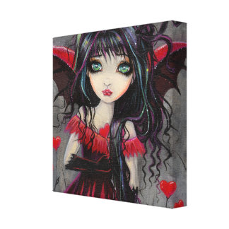 Sweetheart Valentine Vampire Fairy Art Canvas Print