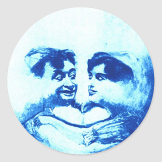 Sweethearts in the Blue Moon Stickers