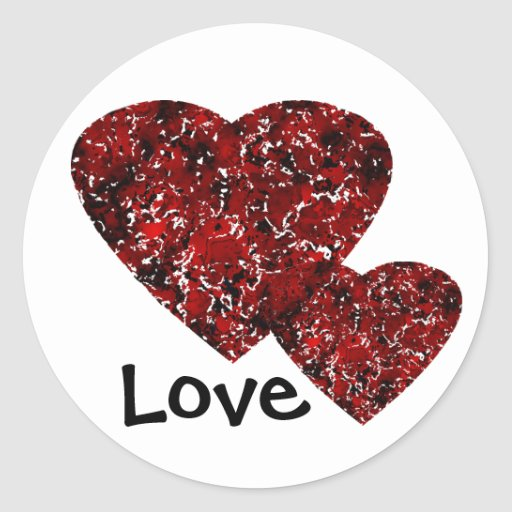 Sweethearts Round Stickers