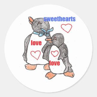 sweethearts round sticker