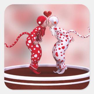 Sweethearts sticker! square sticker
