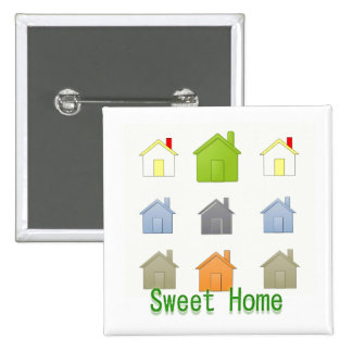SweetHome House Warming Party 15 Cm Square Badge