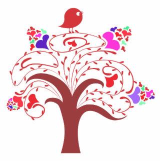 sweetie bird and love tree standing photo sculpture