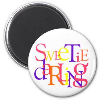 Sweetie Darling 6 Cm Round Magnet