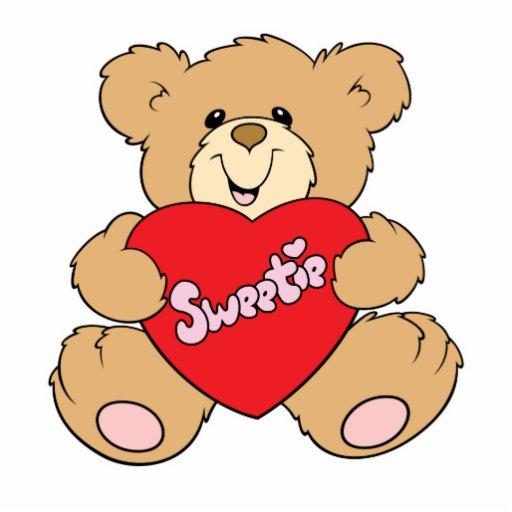 sweetie heart love valentine teddy bear design photo sculpture