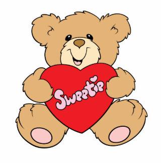 sweetie heart love valentine teddy bear design standing photo sculpture