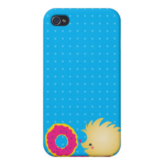 sweetie HEDGEHOG with doughnut Cover For iPhone 4