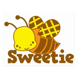 SWEETIE Honey Bee kawaii cutie design Postcard
