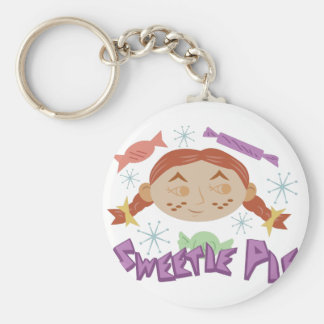 Sweetie Pie Basic Round Button Key Ring
