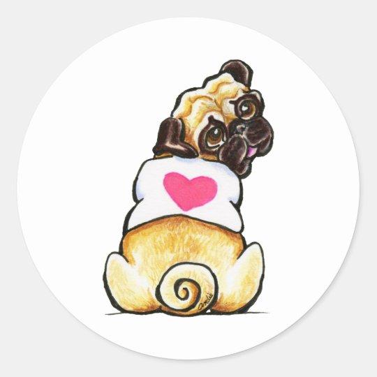 Sweetie Pug Classic Round Sticker