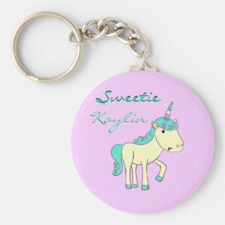 Sweetie the Unicorn Keychain - Customized