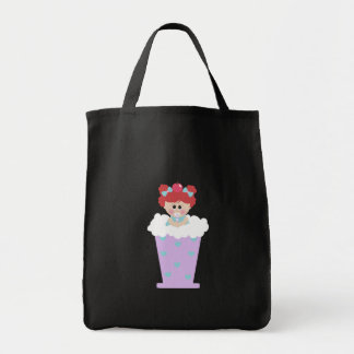 sweetie tooth ice cream soda cutie girl grocery tote bag