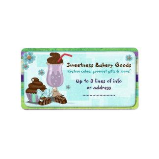 Sweetness Bakery CUSTOM CAKE BUSINESS HOME Address Label