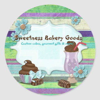 Sweetness Bakery CUSTOMER CAKES DESSERTS Round Sticker