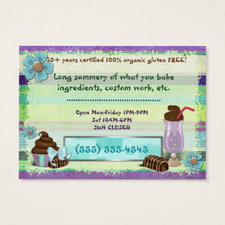 Sweetness Bakery Goods VEGAN BAKERY DINER Business Card