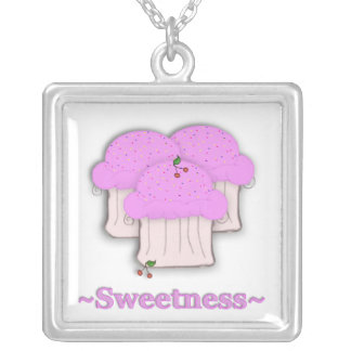 Sweetness Cupcake Necklace