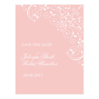 Sweetness | Rose Quartz Vintage Save the Date Postcard