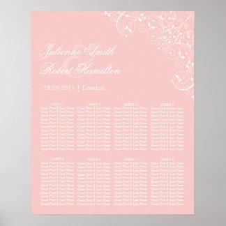 Sweetness | Rose Quartz Vintage Seating Chart Poster