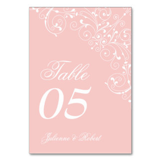 Sweetness | Rose Quartz Vintage Table Card