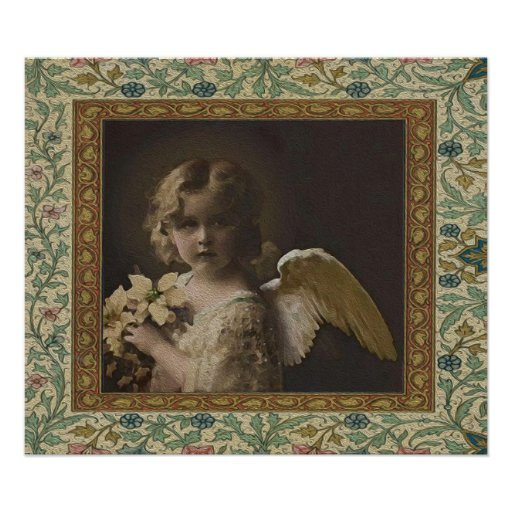Sweetness - Two Little Girl Angels Posters