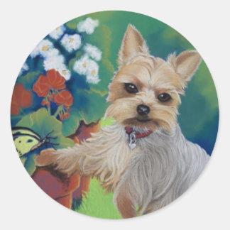Sweetness Yorkie Classic Round Sticker
