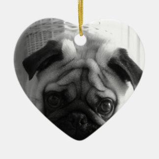 SweetPea Pugs Christmas Ornament