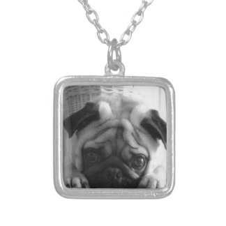 SweetPea Pugs Silver Plated Necklace