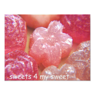 sweets 4 my sweet 4.25x5.5 paper invitation card