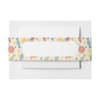 Sweets And Candy Pattern Invitation Belly Band