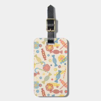 Sweets And Candy Pattern Luggage Tag