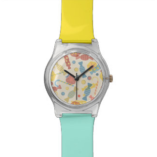 Sweets And Candy Pattern Watches
